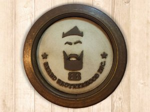 Placa decorativa Beard