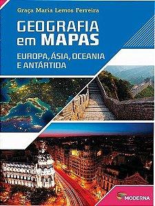 Geografia em Mapas - Europa, Ásia, Oceania e Antártida