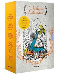 Caixa Clássicos Autêntica - Vol. 3 Alice no país das maravilhas; Alice através do espelho; Volta ao mundo em 80 dias; As mais belas histórias vol. 1; Mágico de Oz