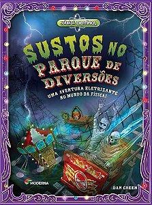Sustos no parque de diversões Uma aventura eletrizante no mundo da Física!