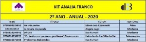 KIT ANALIA FRANCO - 2º ANO - ANUAL 2020