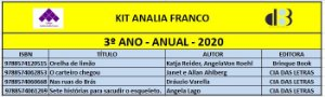 KIT ANALIA FRANCO - 3º ANO ANUAL 2020