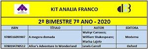 KIT ANALIA FRANCO - 7º ANO - 2º BIMESTRE 2020