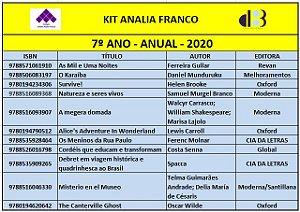 KIT ANALIA FRANCO - 7ª ANO ANUAL 2020
