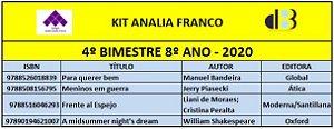 KIT ANALIA FRANCO - 8º ANO - 4º BIMESTRE 2020