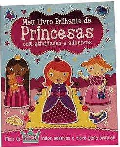 Meu livro brilhante de princesas com atividades e adesivos