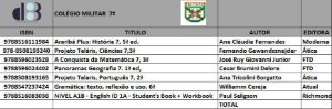 Lista Colégio Militar 7ª Ano