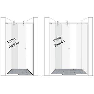 Vidro Móvel para Box de Banheiro 8mm (Porta de Correr)