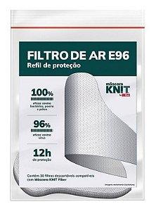Filtro Refil De Proteção Para Mascara Fiber Knit E96 30un.