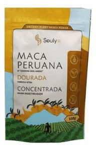 Maca Peruana Dourada Crua Ginseng Andes Agroecológica Souly