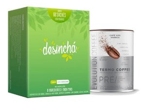 Kit Desinchá 60 Sachês + Evolution Coffee 220g Termogenico