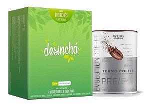 Kit Desinchá 60 Sachês + Evolution Coffee 220g Termogenico