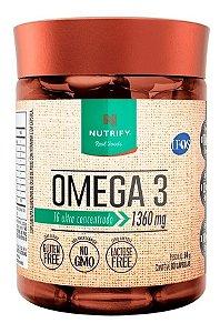 Omega 3 Fish Oil 60 Caps 1360mg - Nutrify Óleo De Peixe