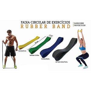 Kit Elásticos Para Exercício Rubber Band 4 Tensões