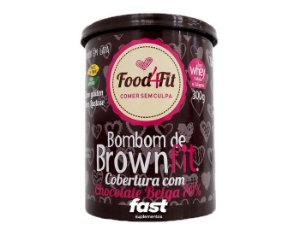 Bombom Brownfit Com Chocolate Belga 70% 300g Food4fit