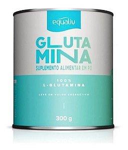 L Glutamina 100% Pura, Equaliv 300g, Músculos Imunidade Full