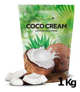 Coco Cream Leite De Coco Em Pó 1kg Puravida Vegano Pura Vida