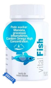 Vital Fish - Óleo De Peixe (60 Caps) 1000mg Vital Âtman