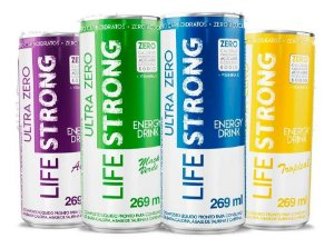 Energético Life Strong Ultra Zero Fit Sabores - 4 Latas