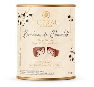 Bombom Luckau Chocolate Belga Cookies E Cream Zero Açúcar