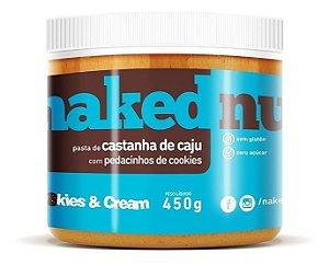 Pasta De Castanha De Caju Com Cookies Naked Nuts - 450g