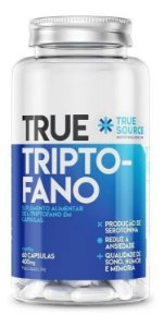 True Triptofano 400mg 60 Caps - True Source - Promoção Ansie