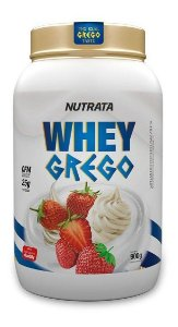 Whey Grego 900g Sabores Whey Concentrado Nutrata Best Whey