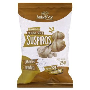 Suspiro Com Whey Protein Orgânico Zero Açúcar Wheyviv 25g