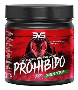 Pré Treino Prohibido 360g 3vs Nutrition Suplemento Beta