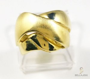 Anel Ouro 18k Amarelo Twisted L 51.6