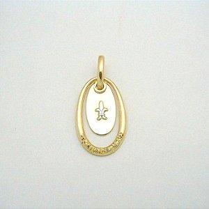 Pingente Ouro 18k Amarelo Formatura Diamante L 15.4