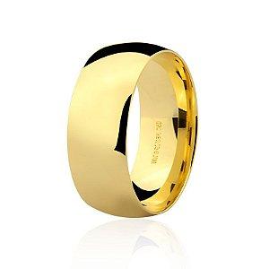 Aliança Ouro 18K Amarelo Tradicional Larga