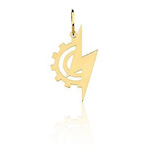 Pingente Engenharia Elétrica Ouro Amarelo 18k L 4.5
