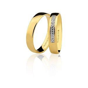 Par Alianças Ouro Amarelo 18k 75.0316.2000 e 76.0316.2013
