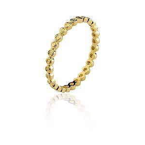Anel Ouro Amarelo 18k Aparador L 5.9