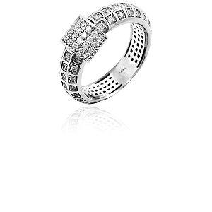 Anel Ouro Branco 18k 84 Diamantes Brancos L 67