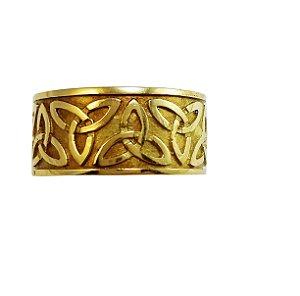 Anel Ouro Amarelo 18k Unissex Nó Celta L 21
