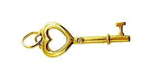 Pingente Ouro Chave do Coração L 15.3