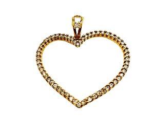 Pingente Ouro Diamonds Heart L 107