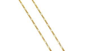 Corrente Ouro Amarelo 18k Groumet Alternada 3 x 1 L 26.9