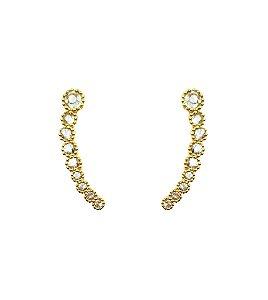 Brincos Ouro Amarelo 18k Mini Ear Cuff L 20