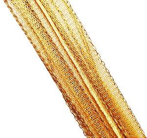 Pulseira Ouro Amarelo 18k Mix de Malhas L 105