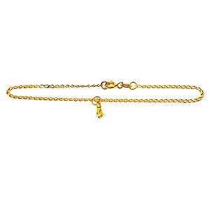 Pulseira Infantil Unissex Ouro Amarelo 18k Figa L 4