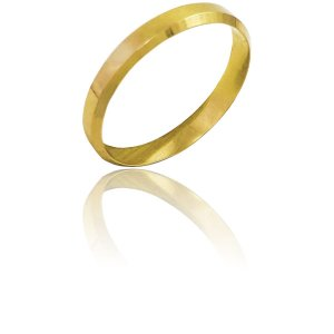 Aliança Ouro Amarelo 18k Laminada Ref 0003