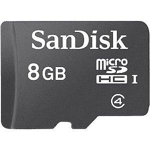 Cartão de Memória Sandisk Micro SD 8GB com Adaptador