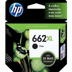 Cartucho De Tinta HP 662 XL Preto - CZ105AB