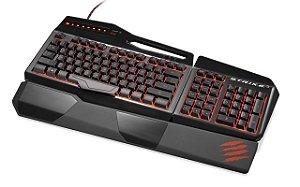 Teclado Gamer Mad Catz Strike 3 Preto e Vermelho PC