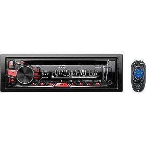 CD Player JVC KD R469 com Mp3 Player Entrada USB e AUX