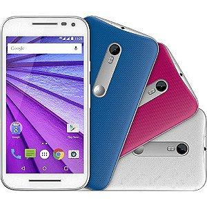 "Smartphone Motorola Moto G 3ª Tela 5"" 16GB 4G Wi-Fi Câmera 13MP Colors - Branco"