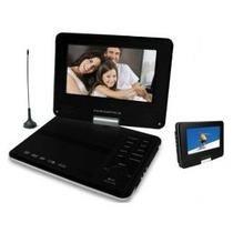 DVD Player Portátil Powerpack 7'' TV7328 RD/BK